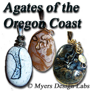 Samples pendants of Agates of the Oregon Coast to be worn as pendants!